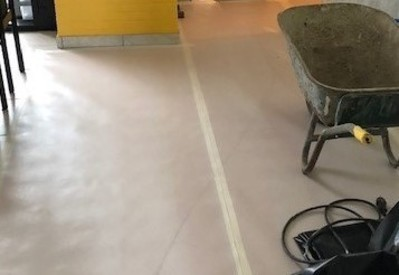 Aftapen van vloer