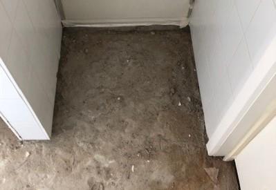 Openbreken van vloer